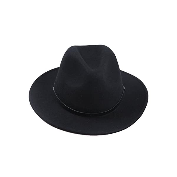 983dacf2 Sedancasesa Women Men's Crushable Wool Felt Outback Hat Wide Brim Fedora  Hats