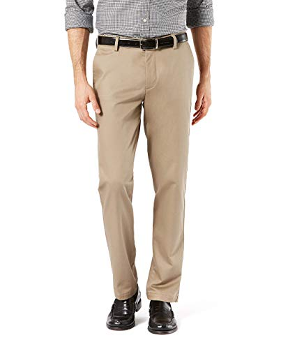 Dockers Men's Slim Fit Signature Khaki Lux Cotton Stretch Pants, New British, 34W x 32L from Dockers