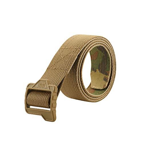 M-Tac Tactical Double Duty Belt Men's Web Gun Belt (Coyote/Camo, XXXL (50-52))
