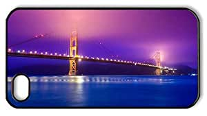 Hipster durable iPhone 4 cases golden gate colorful PC Black for Apple iPhone 4/4S