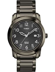Timex Men's T2P135AW Classics Black Sunray Dial, Gray Plated Expansion Band Watch
