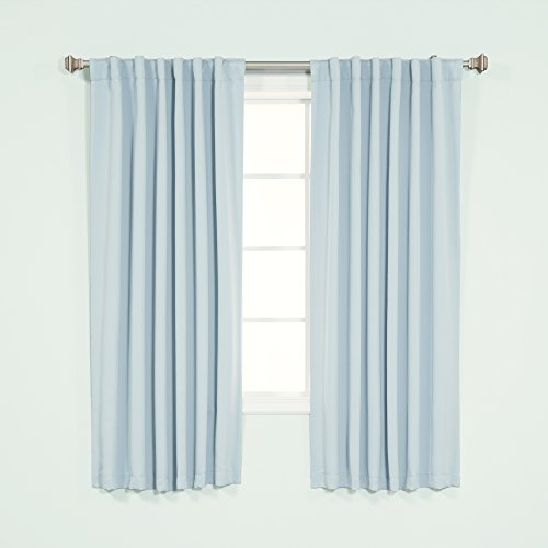 light blue curtains 63 inch - 1
