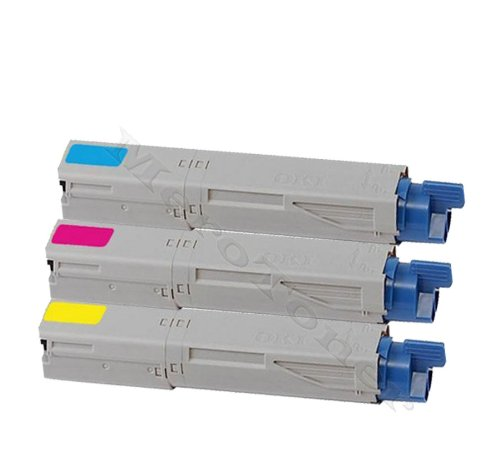3 x Cartucho de tinta para OKI C 3300 N, C3300, C 3400 N, C3400, C ...