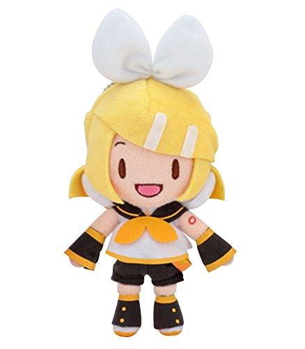 Sega 115-1014873B Hatsune Miku Vocaloid Ballchain Vol. 2 Standing Kagamine Rin Plush, 6.5