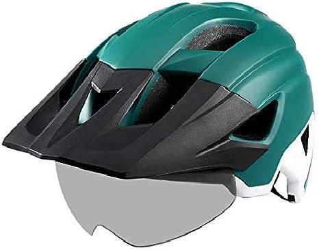 Cycling Helmet Ultralight Removable Visor Goggles Taillight Bike Road MTB Sports