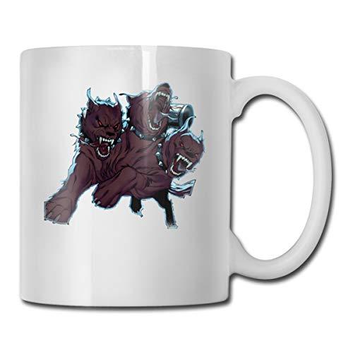 Riokk Az A Three-Headed Fierce Wolf 11oz Coffee Mugs Funny Cup Tea Cup Birthday Ceramic ()