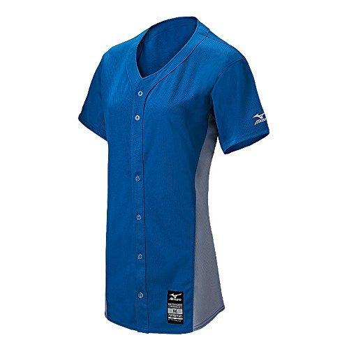 MizunoレディースPro full-button Game Jersey B01JGAQMO2 XX-Large|ロイヤル/グレー ロイヤル/グレー XX-Large