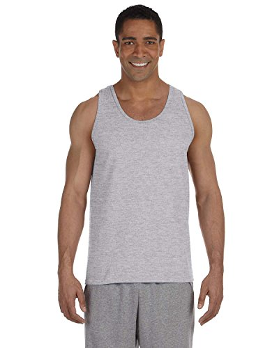 Gildan 2200- Classic Fit Adult Tank Top Ultra Cotton - First Quality - Sport Grey - Large