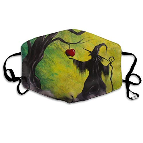 Custom Anti-Dust Mouth Mask Witch Painting Reusable Outdoor Face Mask with Adjustable Earloops Breathable Mouth Cover for Teens Men Women