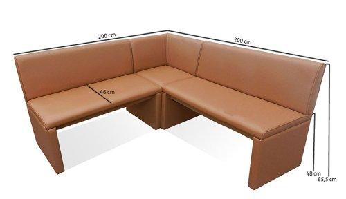 SAM® Eckbank cappuccino, 200 x 200 cm, flexibel montierbar, links und rechts aufbaubar, bequeme Sitzecke [521306]