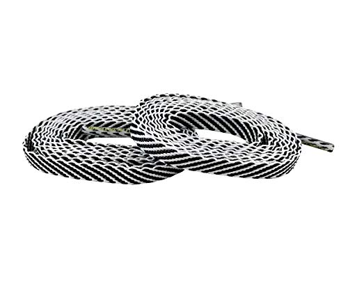 Team Color Laces - (114cm/45in Women/Teen, White w/Black Stripe) ()