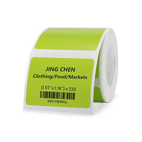 """JINGCHEN Thermal Label Paper, Print with B11/B3, Widely Used in Inventory/Food/Supermarkets/Clothing & Shoes & Hats, Label Printing, 1.57""""x1.18"""", 230 Labels/Roll"""