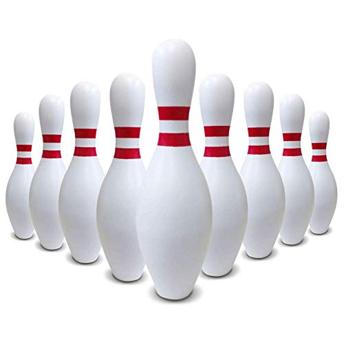 Party Direct Real Bowling Pin Full-Sized 10 Pieces per case Real Regulation-Size AMF Wooden Bowling Pin (Fowling Pin)