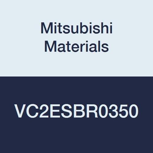 Ball Nose Shape 7 mm Cutting Dia Mitsubishi Materials VC2ESBR0350 VC2ESB Series Carbide Miracle End Mill 3.5 mm Corner Radius 7 mm LOC 2 Extra Short Flutes