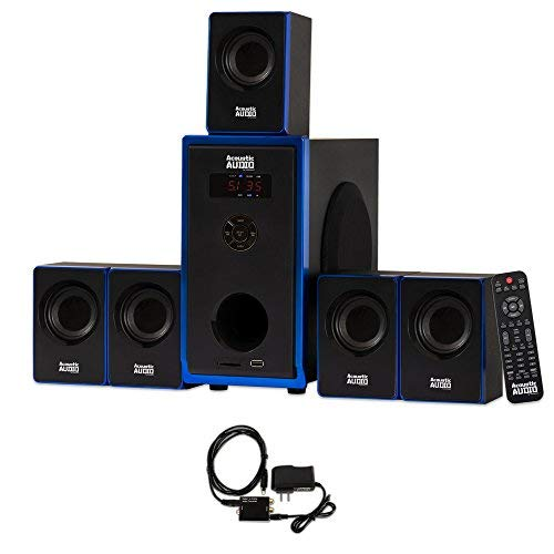 Acoustic Audio AA5102 Bluetooth 5.1 Speaker System with Optical Input Home Theater (Best Pc Surround Sound System)