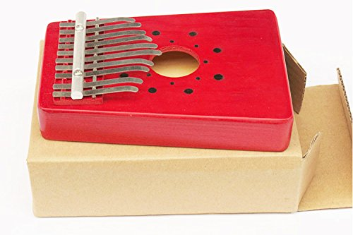 Luvay Kalimba Thumb Piano Mbira, Finger Piano African Instrument (10keys-Red) - Image 4