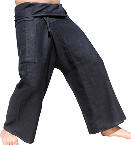 RaanPahMuang-Brand-Thick-Woven-Hemp-Thailand-Fisherman-Wrap-Pants-Plus
