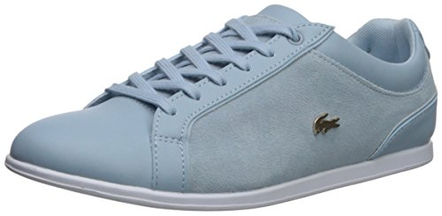 Lace Lacoste Sneakers (Lacoste Women's Rey Lace Sneaker, Light Blue, 7.5 Medium US)