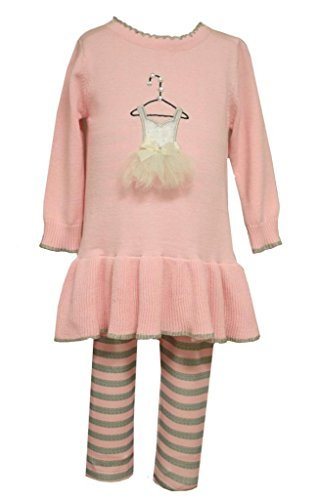 Bonnie Jean Baby Girls Ballerina Ballet Shoes Top and Pants Set, 18M