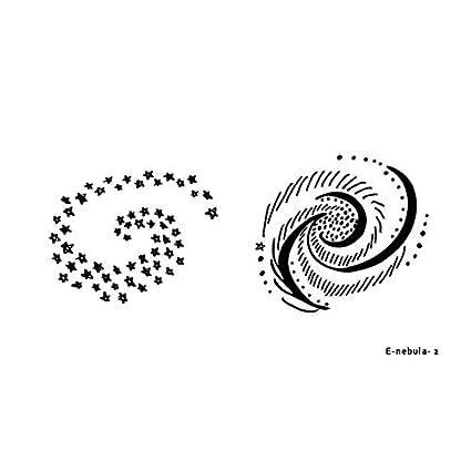 Etiqueta engomada del tatuaje temporal universo impermeable ...