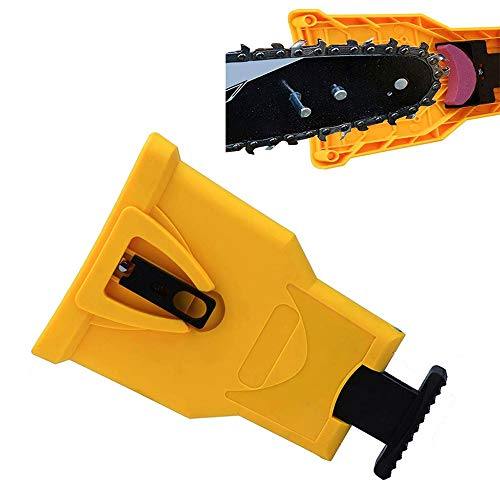 - WREOW Chainsaw Sharpener Portable Proprietary Bar-Mount Chain Saw Sharpening Tool Fast-Sharpening Stone Grinder Tool Compatible with 14-20 Inch Chian Saw with Two Holes