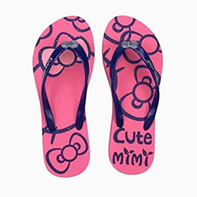 type flip flops female wear resistant and antiskid indoor and outdoor slippers Summer Beach Shoes Pink 39 yards