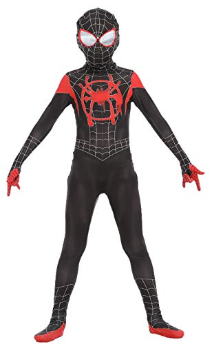 Ugoccam Superhero Kids Bodysuit Zentai Suit Cosplay Jumpsuit Tights Black
