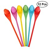 TOYMYTOY Egg and Spoon Relay Race Game for Parties Birthday Family Outings-12pcs (Assorted Color)