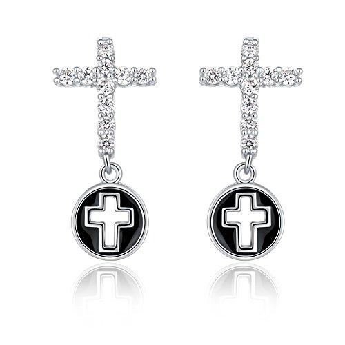 cross dangle earrings drop women jeweller_ prime day promotion deals diamond earrings_ cubic zirconia earrings wedding jewellery bride bridal earrings gifts