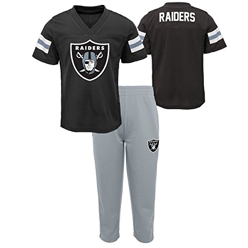 - Outerstuff NFL NFL Oakland Raiders Infant Training Camp Short Sleeve Top & Pant Set Black, 24 Months