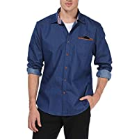 TIESOME Mens Casual Button Down Shirts Slim Fit Dress Shirt Plaid Collar Cuff