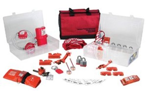 Master Lock Portable Valve and Electrical Lockout Kit and Organizer, Includes 6 Steel Padlocks