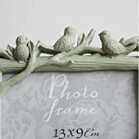 Green Bird Tree Branch Home Decor Photo Frame Picture Frame Resin 3.5'' x 5'' from Home Décor
