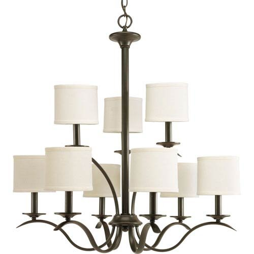 andelier in Bronze Finish (Transitional Twenty Light Chandelier)