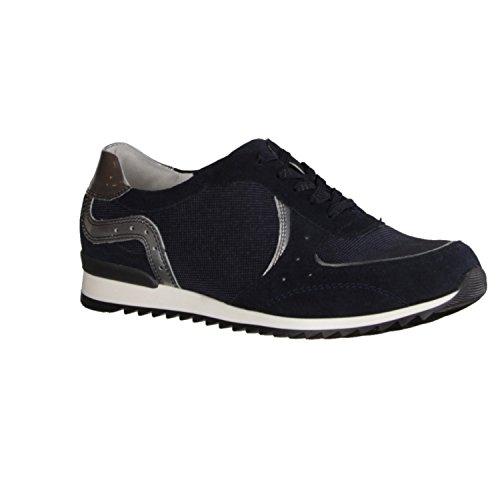 Waldläufer 370005-309-763 - Zapatos de cordones de Piel para mujer azul azul Azul