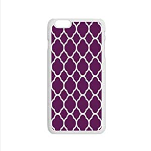 Classic purple and white Quatrefoil pattern Custom Case for iPhone6 4.7inch PC case cellphone cover white