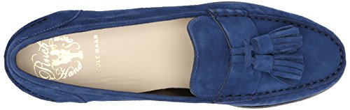 Cole Haan Dames Pinch Grand Tassel Penny Loafer Estate Blue Suede