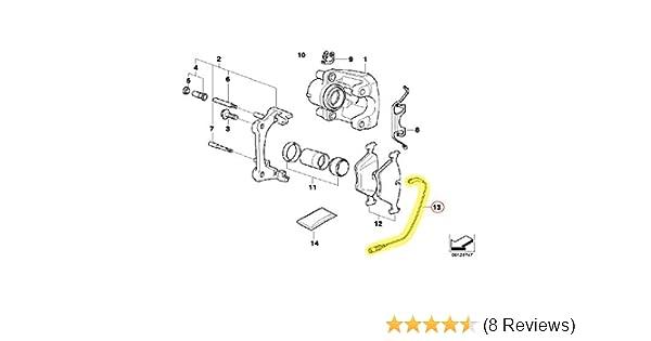 BMW Rear Brake Pad Sensor New 34 35 6 789 445
