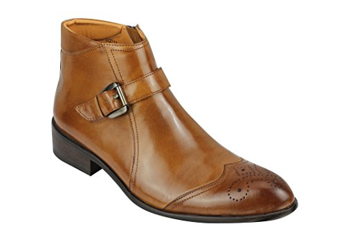 Xposed - Stivali Brogue uomo Tan Brown