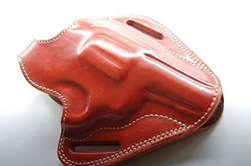 English Spur Belt - cal38 Handcrafted Leather Belt Holster for Smith Wesson Model 60 3 inch (R.H) (TAN)