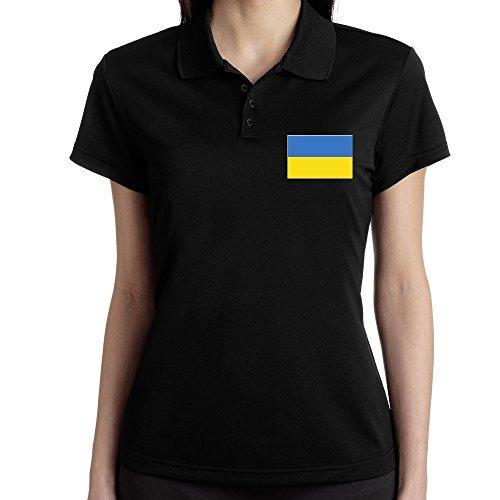 Teeburon Ukraine Flag Polo Donna