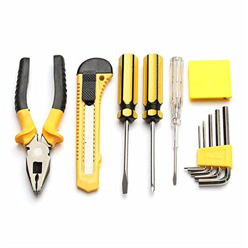Generic 10Pcs Alloy Steel Screwdriver Wrench Pliers Electroprobe Hardware Tool Kit B01N6IG040