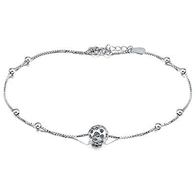 Nice Vivere Rosse Women's Exquisite Silver Plated Beaded Anklet for sale