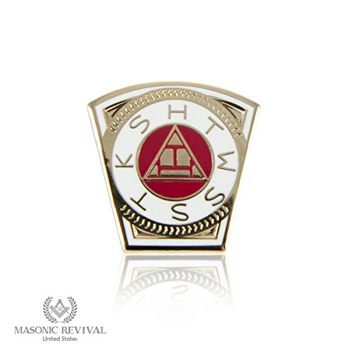 (The Head of the Corner Keystone Lapel Pin by Masonic Revival (York Rite Royal)