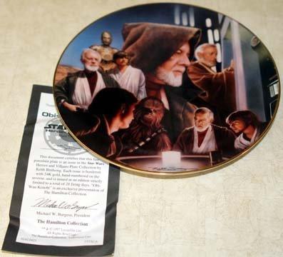 Star Wars Collectible Plates - Star Wars Heroes & Villains Obi Wan Kenobi Collectible Plate