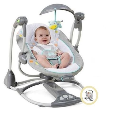 New Portable Ingenuity ConvertMe Swing-2-Seat Swing for Baby | Machine Washable Seat Pad & Head Support | Swing Timer & WhisperQuietTM Operation by Interstellarr