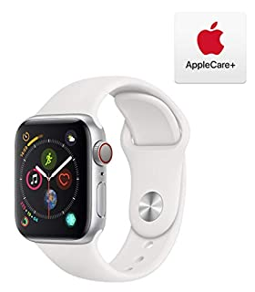 AppleWatch Series4 (GPS+Cellular, 40mm) - Silver Aluminum Case with White Sport Band with AppleCare+ Bundle (B07RJ1HCDW) | Amazon price tracker / tracking, Amazon price history charts, Amazon price watches, Amazon price drop alerts