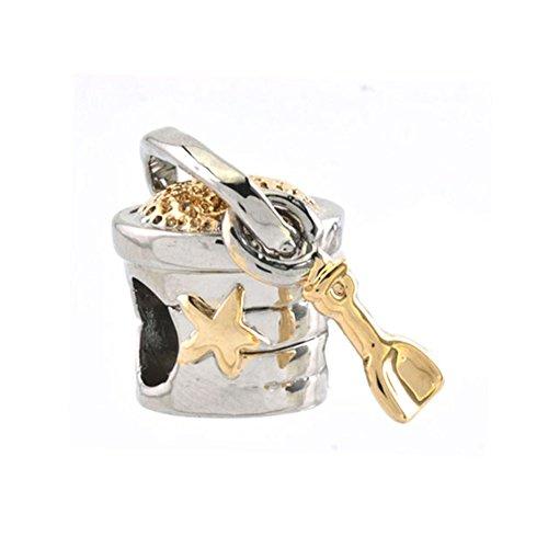 (CharmSStory Golden Star Bucket Shovel Charms Beads Charm For)