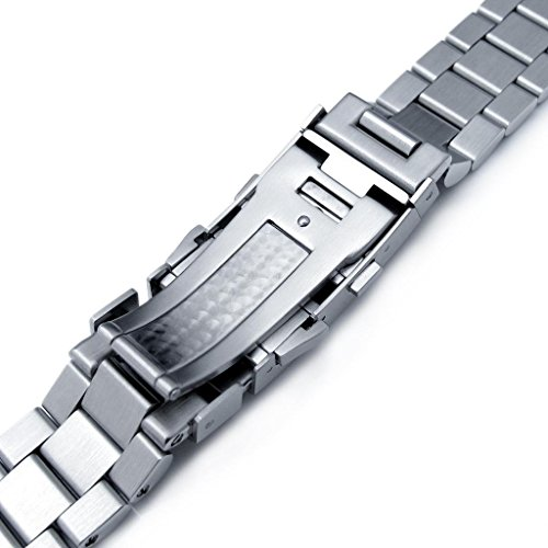 22mm Endmill Watch Bracelet for Seiko New Turtles SRP777 & PADI SRPA21 Ratchet Brushed by Seiko Replacement by MiLTAT (Image #4)