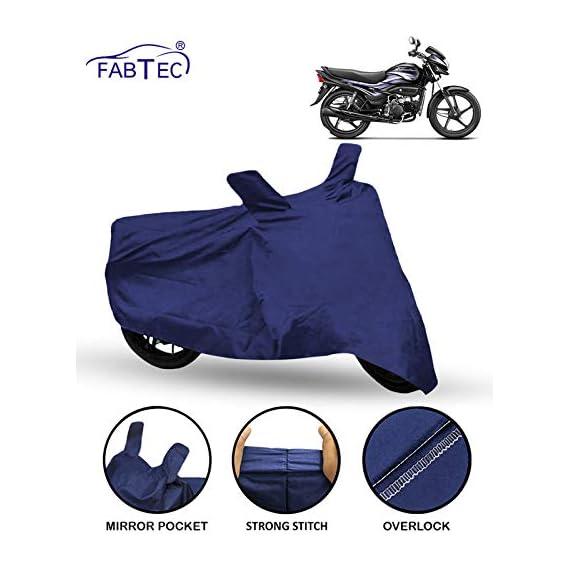 FABTEC Motorcycle Bike Body Cover for Hero Super Splendor (Blue)
